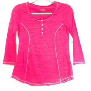 NEW Joe Boxer 3/4 Sleeve Pink Casual Top Size S